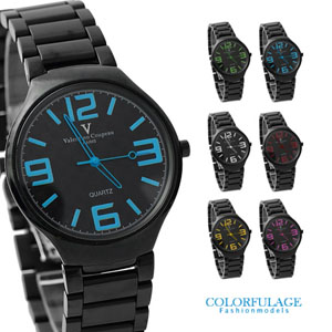 Valentino范倫鐵諾格紋數字錶