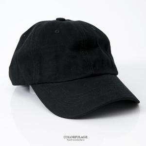 純棉軟布材質彎沿棒球帽