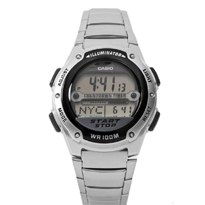 CASIO卡西歐黑銀潮流電子錶