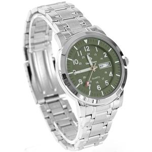 搭戴SEIKO機芯墨綠不鏽鋼手錶