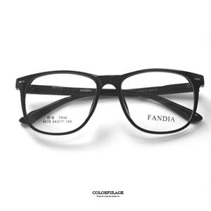 萬年不敗亮面膠框光學眼鏡