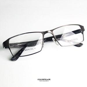 仿木質方框金屬光學眼鏡