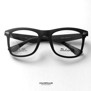 霧面粗框星星閃電光學眼鏡