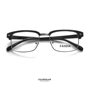 復古金屬眉框中性光學眼鏡