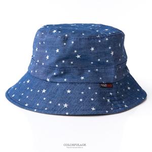 滿版星星休閒雙面漁夫帽