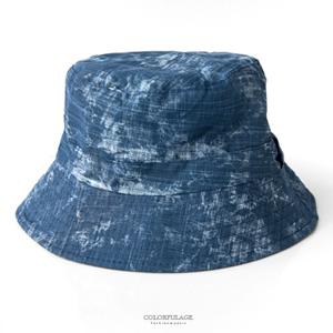 水墨暈染休閒雙面漁夫帽