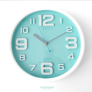 马卡龙粉嫩色立体数字时钟