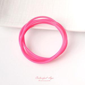 夏日簡約風格塑膠運動手環