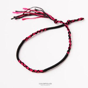 手工編織幸運繩腳環手環