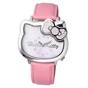 Hello Kitty粉嫩珍珠貝面腕錶