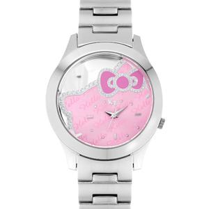 Hello Kitty鏤空亮粉色腕錶