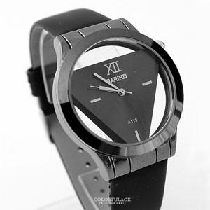 手錶簡約鏤空三角腕錶
