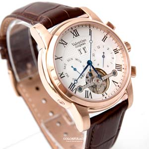 范倫鐵諾 玫金機械手錶