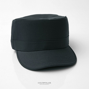 軍帽 型男硬挺素面帽子