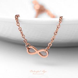 手環 完美流線玫瑰金鋼手鍊