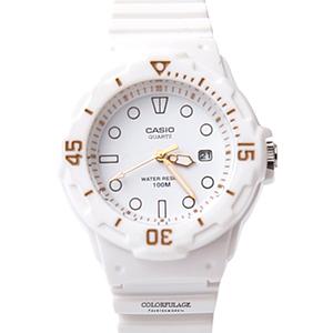 CASIO卡西歐運動白色女膠錶