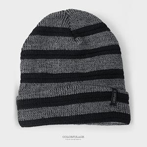 毛帽 秋冬保暖條紋毛帽