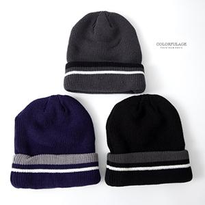 毛帽 MIT保暖雙色毛帽