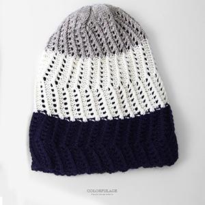 毛帽 MIT三色層次針織帽