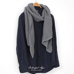 圍巾 秋冬粗針織斜角圍巾