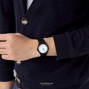 手錶輕巧多色數字矽膠腕錶