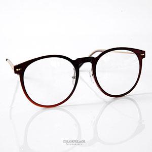 鏡框 大圓膠框金屬架眼鏡