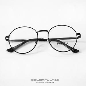 光學眼鏡 細金屬大圓框眼鏡