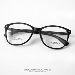 光學眼鏡 經典細架黑膠框