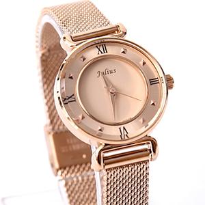 手錶 正韓Julius玫金鋼索腕錶