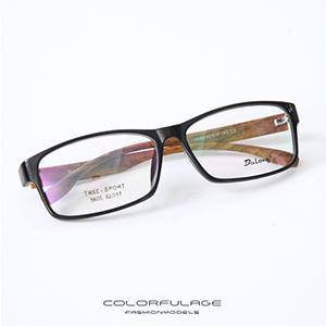 光學眼鏡 日系方膠框仿木紋