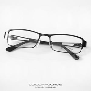 光學眼鏡 窄版金屬鏤空鏡框