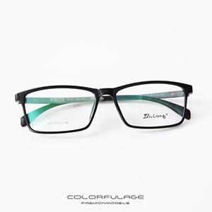 光學眼鏡 黑膠鏡框混色腳架