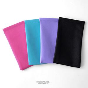 眼镜盒 纯色素面软质眼镜袋
