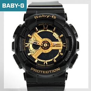 Baby-G 黑金機械感手錶 BA-110-1ARD