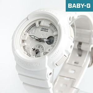 Baby-G 雪白雙顯地圖手錶BGA-190BC-7BDR