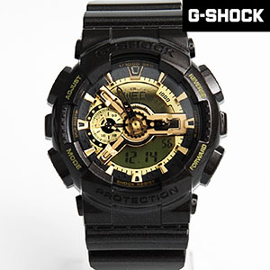 G-SHOCK 黑金重機雙顯手錶