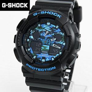 G-SHOCK 黑藍迷彩手錶