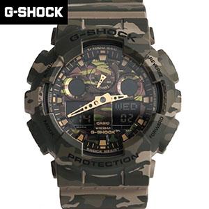 G-SHOCK 綠迷彩雙顯手錶