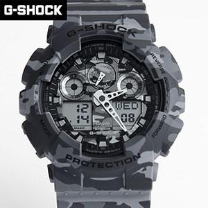 G-SHOCK 灰迷彩雙顯手錶