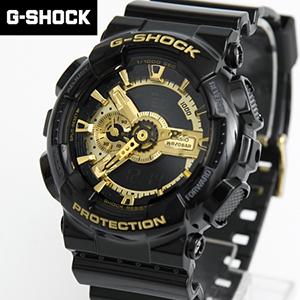 G-SHOCK手錶 黑金雙顯錶