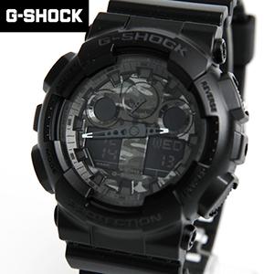 G-SHOCK手錶 迷彩黑雙顯錶