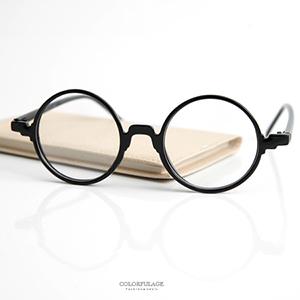鏡框 復古小圓膠框平光眼鏡
