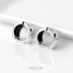 耳環 925純銀素面寬版耳針