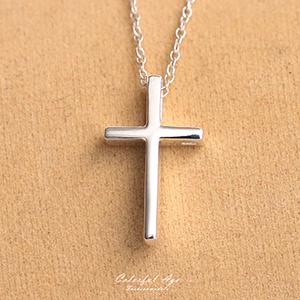 項鍊 925純銀十字架極簡質感