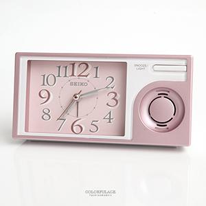 鬧鐘 SEIKO精工粉色長型鬧鐘