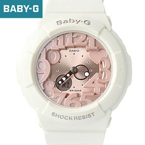 Baby-G玫金粉數字指針電子錶BGA-131-7B2DR