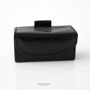 眼镜盒 黑皮革老花眼镜盒