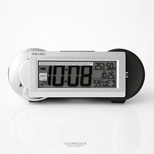 SEIKO銀色聽筒數位電子鬧鐘