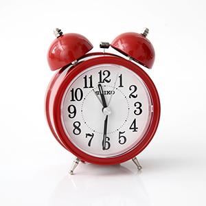 SEIKO復古紅色大聲公造型鬧鐘