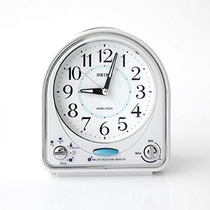 SEIKO精工藍色音符扇形鬧鐘
